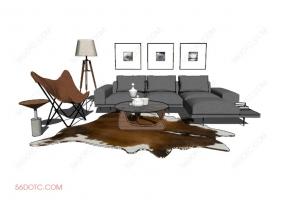 客厅整体软装00116-SketchUp草图大师模型