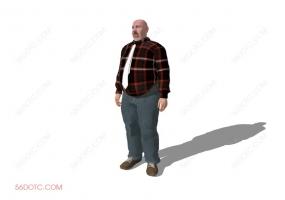 人物00019-SketchUp草图大师模型