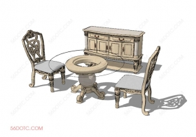 桌椅组合00050-SketchUp草图大师模型