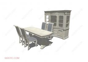 桌椅组合00053-SketchUp草图大师模型