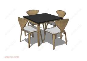 桌椅组合00055-SketchUp草图大师模型