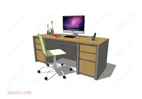 桌椅组合00057-SketchUp草图大师模型