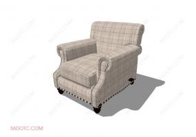 沙发00077-SketchUp草图大师模型