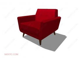 沙发00078-SketchUp草图大师模型