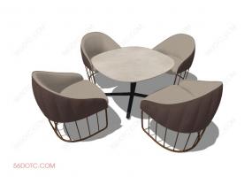 桌椅组合00071-SketchUp草图大师模型