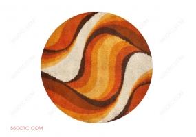 布艺00043-SketchUp草图大师模型:圆形地毯