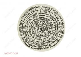 布艺00044-SketchUp草图大师模型:圆形地毯