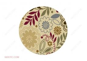 布艺00045-SketchUp草图大师模型:圆形地毯