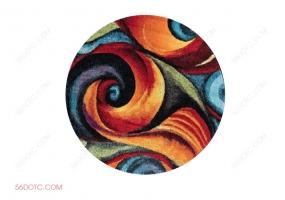 布艺00046-SketchUp草图大师模型:圆形地毯