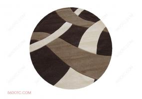 布艺00047-SketchUp草图大师模型:圆形地毯