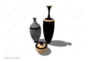 陈设000179-SketchUp草图大师模型:花瓶