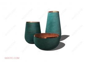 陈设000180-SketchUp草图大师模型:花瓶