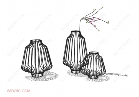 陈设000182-SketchUp草图大师模型:花瓶