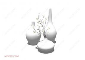 陈设000183-SketchUp草图大师模型:花瓶