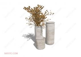 陈设000184-SketchUp草图大师模型:花瓶