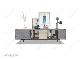 电视柜00017-SketchUp草图大师模型