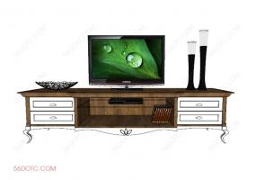 电视柜00018-SketchUp草图大师模型