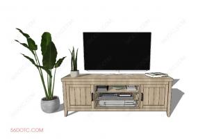 电视柜00020-SketchUp草图大师模型