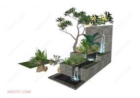 园林景观00044-SketchUp草图大师模型