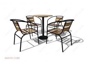 桌椅组合00080-SketchUp草图大师模型