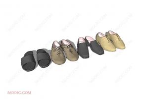 服装00078-SketchUp草图大师模型:男鞋