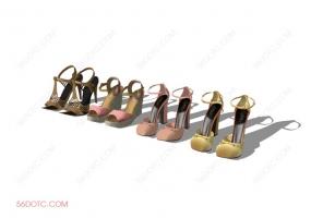 服装00080-SketchUp草图大师模型:女鞋