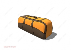 服装00083-SketchUp草图大师模型:箱包