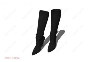 服装00084-SketchUp草图大师模型:靴子