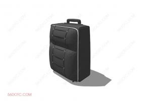 服装00086-SketchUp草图大师模型:箱包
