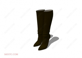 服装00087-SketchUp草图大师模型:靴子
