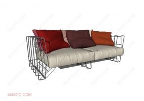 沙发000123-SketchUp草图大师模型