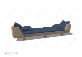 沙发000124-SketchUp草图大师模型