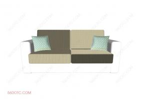 沙发000126-SketchUp草图大师模型