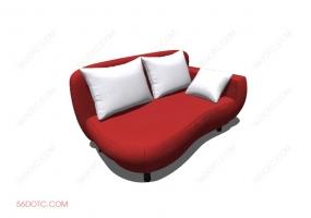 沙发000127-SketchUp草图大师模型