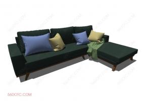 沙发000129-SketchUp草图大师模型