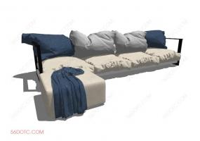 沙发000130-SketchUp草图大师模型