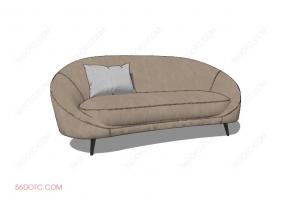 沙发000135-SketchUp草图大师模型
