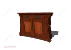储物柜0002-SketchUp草图大师模型