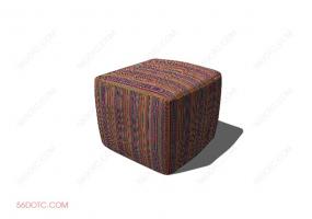 沙发000140-SketchUp草图大师模型:沙发墩