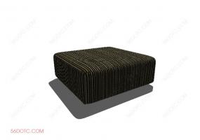 沙发000141-SketchUp草图大师模型:沙发墩