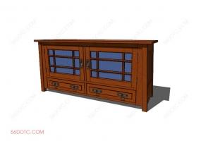 电视柜00025-SketchUp草图大师模型