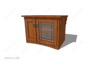 电视柜00026-SketchUp草图大师模型