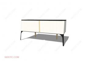 电视柜00027-SketchUp草图大师模型