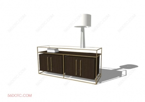 电视柜00028-SketchUp草图大师模型