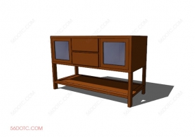 电视柜00029-SketchUp草图大师模型