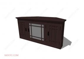 电视柜00032-SketchUp草图大师模型