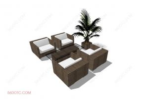 组合沙发0002-SketchUp草图大师模型