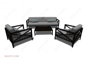 组合沙发0003-SketchUp草图大师模型