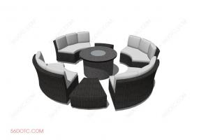 组合沙发0006-SketchUp草图大师模型