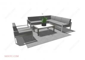 组合沙发0007-SketchUp草图大师模型